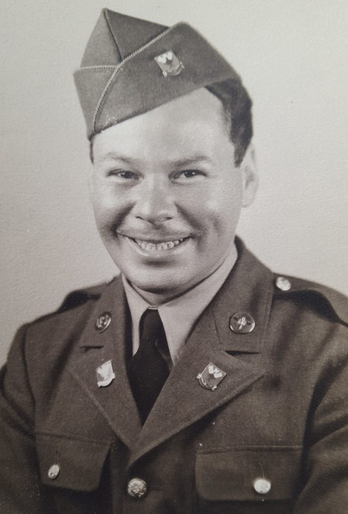 Photo of Peter in his uniform