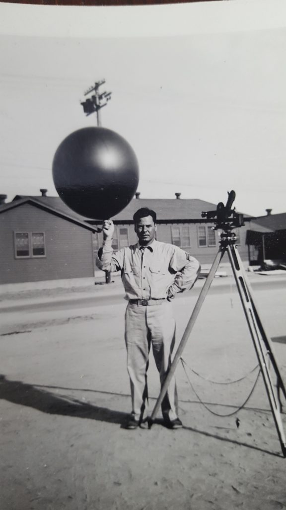 Picture of Peter holding a weather balloon